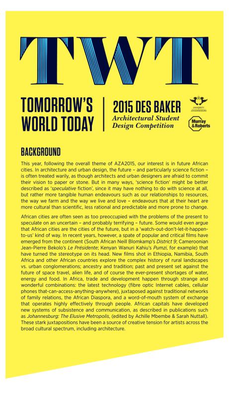 2. Des Baker Competition background