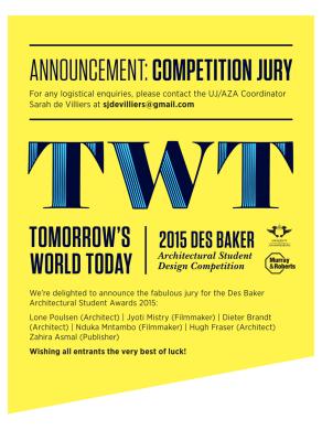 4. Des Baker - Jury Announcement