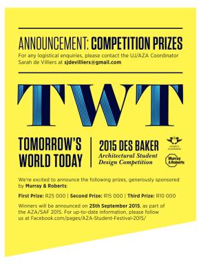 5. Des Baker - Prizes Announcement